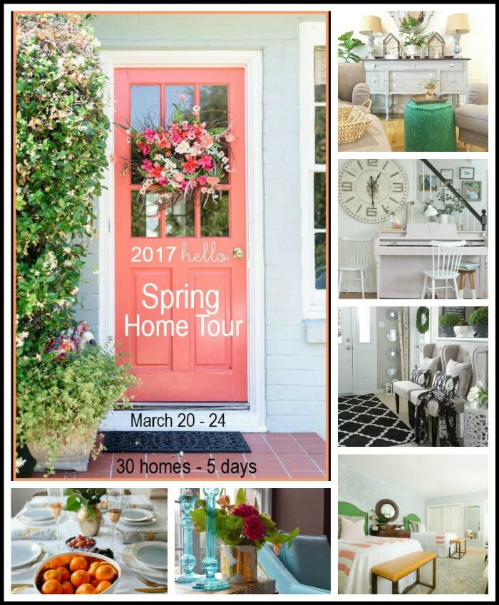 See 6 Spring Home Tours - gorgeous Spring decorations using Spring color and Spring flowers!