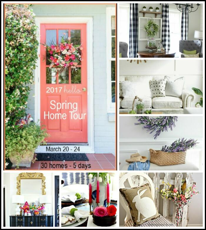 See 6 Spring Home Tours - gorgeous Spring decorating ideas using Spring color and Spring flowers!