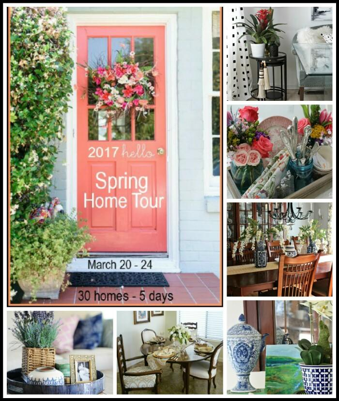 See 6 Spring Home Tours - gorgeous Spring decor ideas using Spring color and flowers!