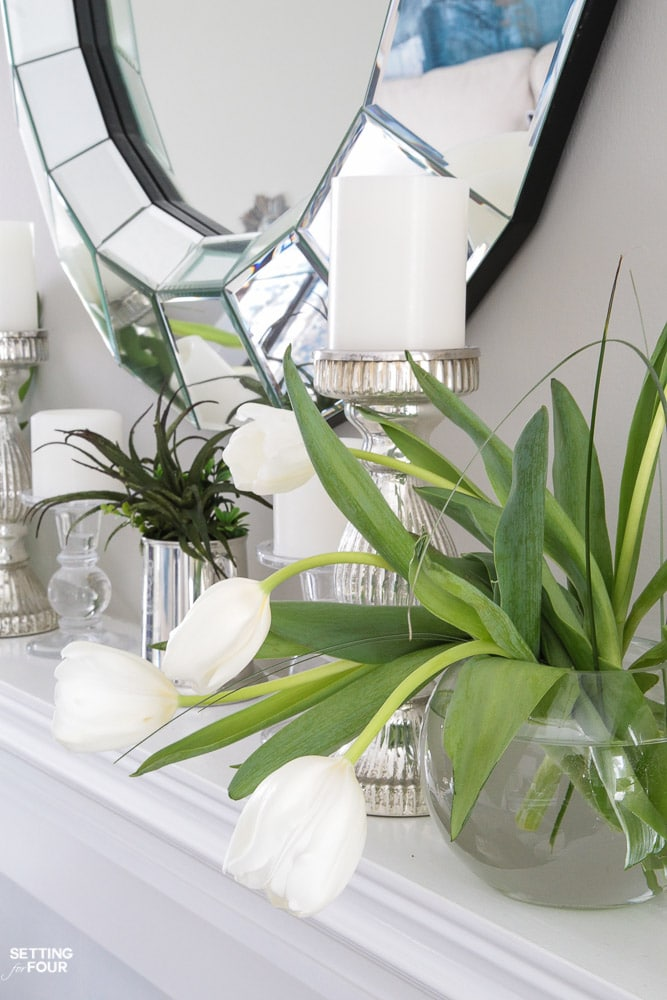SPRING MANTEL IDEAS and a spring home tour!