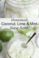 Make this amazing DIY Lime Mint Sugar Scrub recipe to pamper your skin! Great gift idea!