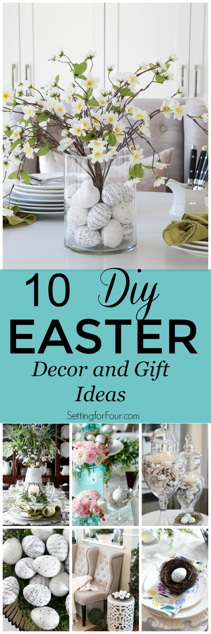 10 Diy Easter Decor And Gift Ideas Setting For Four