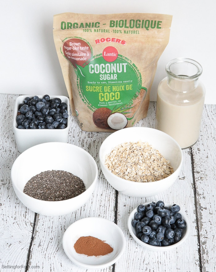 Healthy Coconut and Chia Overnight Oats Recipe - see the supplies and directions to make this delicious breakfast and snack idea!