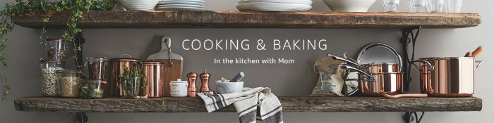 Amazon Mother's Day Shop: Gorgeous Cooking and Baking items to dress up Mom's Kitchen!