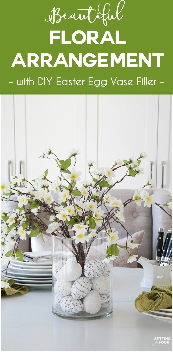 Floral Arrangement With DIY Easter Egg Filler - Setting ...