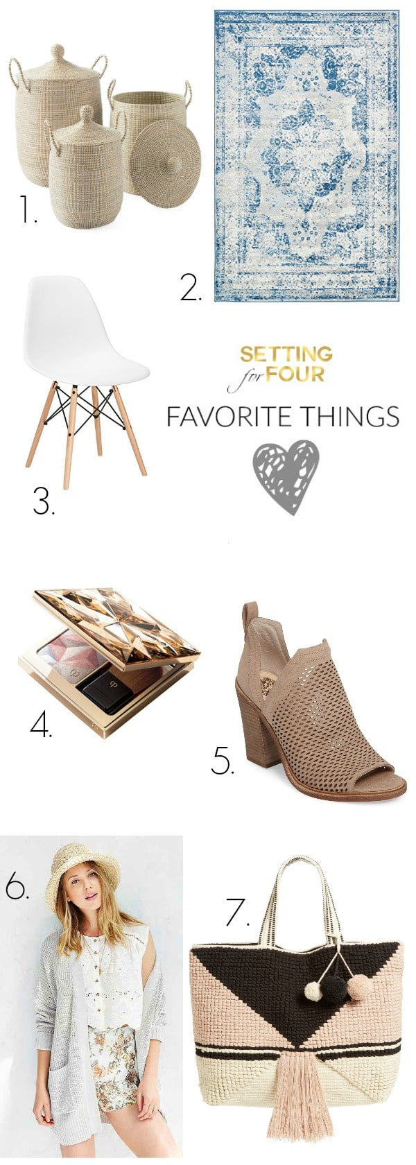 My FAVORITE THINGS! Gorgeous decor to add style to your home, beauty items to add to your makeup bag and fabulous and chic fashion looks!