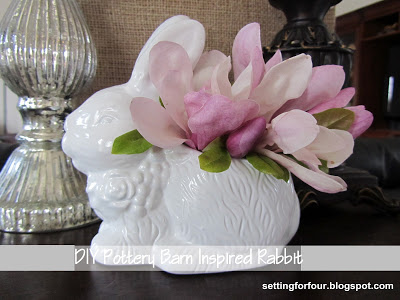 DIY Pottery Barn Knockoff Rabbit Vase - get the look for much cheaper!