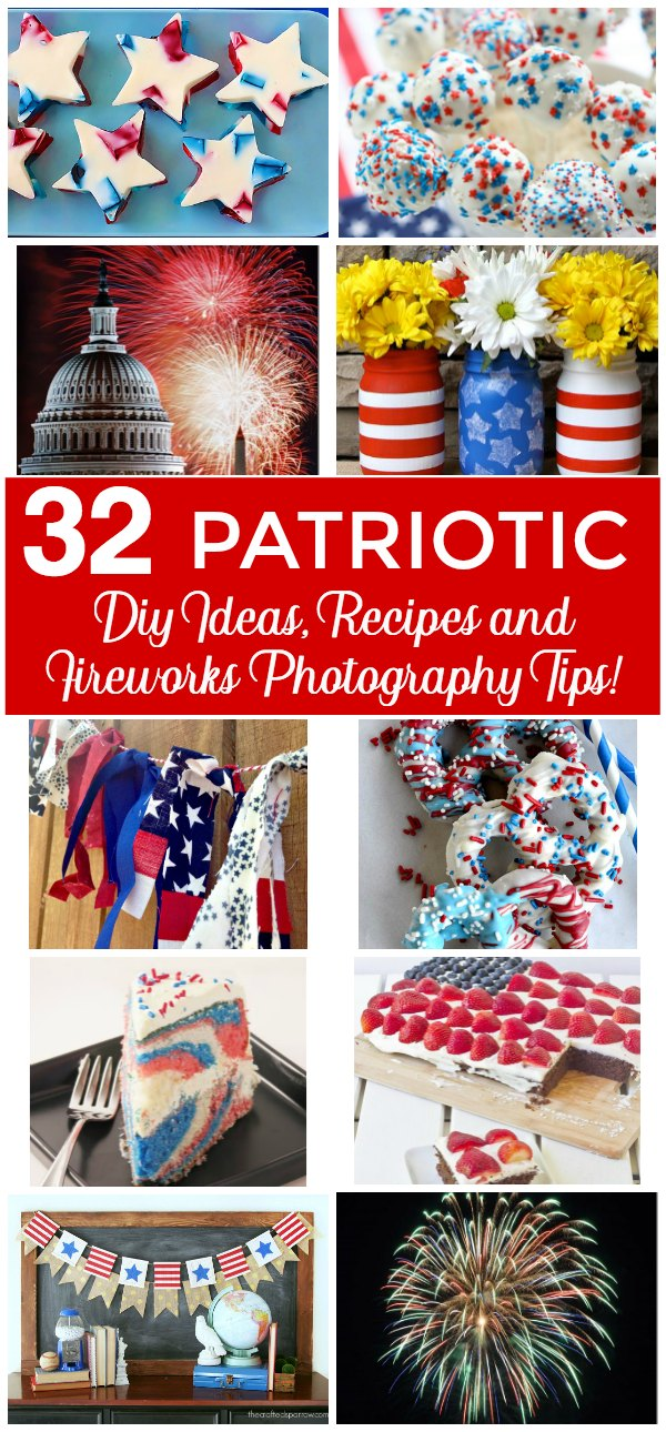32 Amazing Fall Designed Nail Art That Will Make You Stunned: 32 AMAZING Patriotic DIY Ideas, Recipes And Fireworks