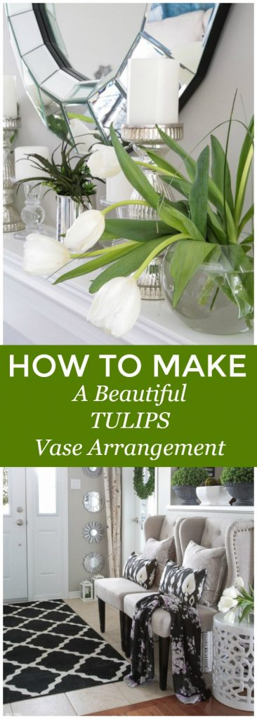 How To Arrange Tulips In a Simple Centerpiece! #tulips #vase #bouquet #flowerarrangement #flower #cutflowers