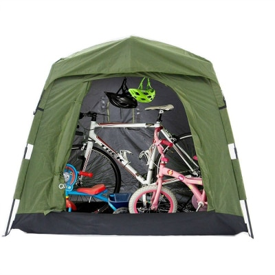 10 Plus Handy and Clever Outdoor Storage Solutions - An outdoor bike tent is a must!