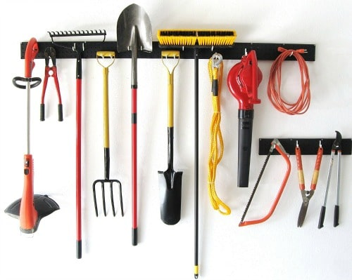 10 Plus Handy and Clever Outdoor Storage Solutions - A tool hanger rack is a must!