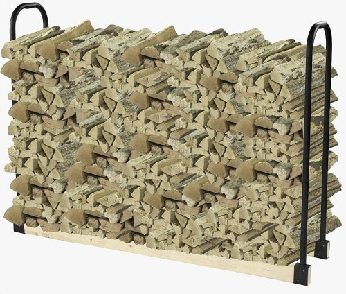 How to Organize your home and outdoor space! Store firewood in simple wood brackets. Keeps each log within easy reach for fun outdoor bonfires and smore's parties!