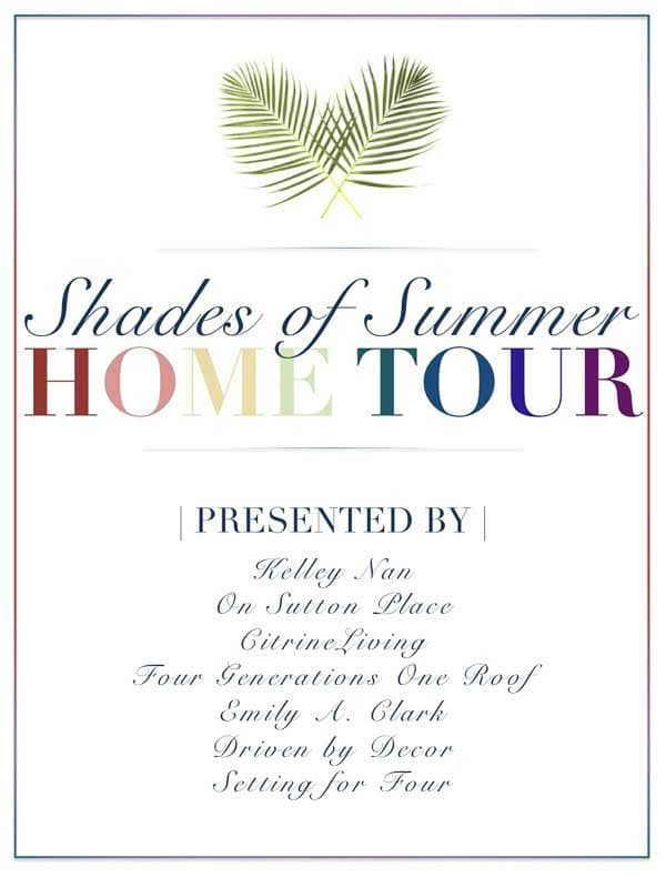 See the beautiful homes of 8 creative design and decor Bloggers in the SHADES OF SUMMER Home tour! Get lots of summer decorating ideas using 8 stylish color schemes that are perfect for the summer season.