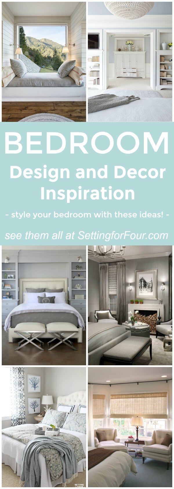 HOME DECOR IDEAS FOR YOUR BEDROOM! See these gorgeous bedroom design and decorating ideas to add to your own master bedroom and guest bedroom! Use these inspirational ideas to turn your room into a dreamy relaxing oasis!