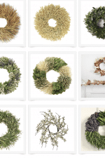 Fall wreaths for all budgets! See the best online sources for Fall wreaths including these beautiful autumn leaf, feather, wheat, pumpkin, eucalyptus, bayleaf, rosemary herbal wreaths - and more! I'm also sharing home decor tips on all the ways you can decorate your house with wreaths!