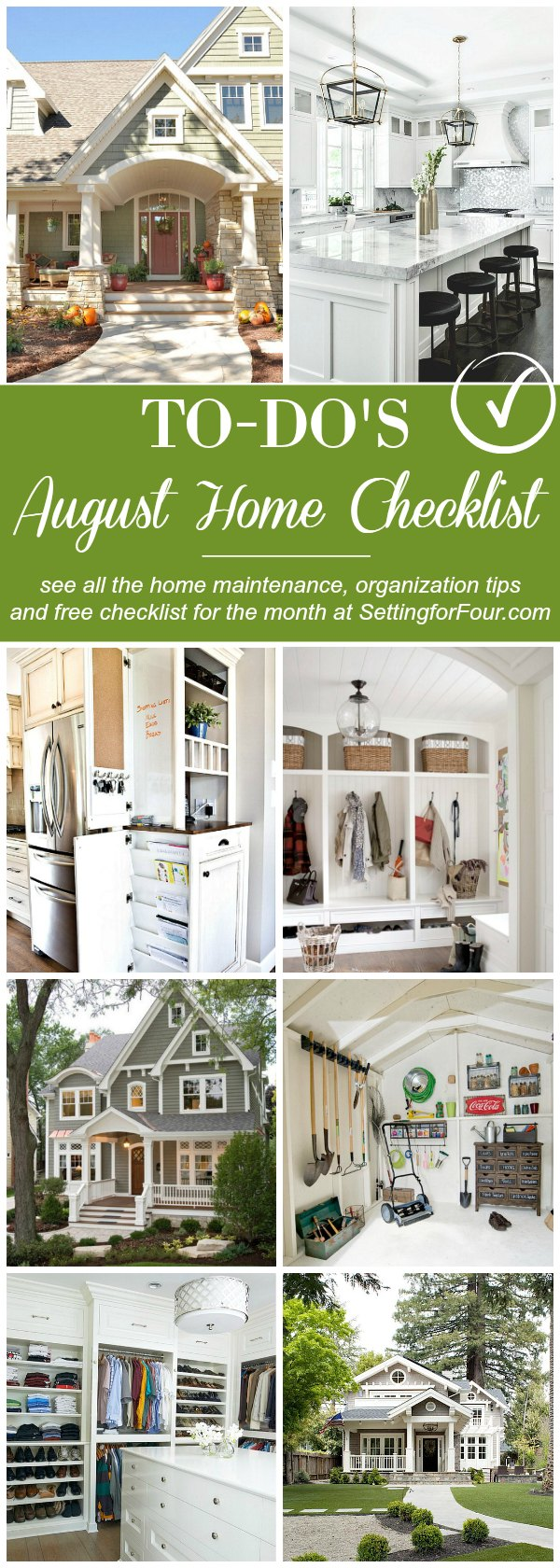 See this handy August Home Checklist and home improvement tips to plan for Fall. Includes a FREE To-Do checklist that you can print off. Helpful tips on how to enjoy the end of summer, prepare for back to school, home maintenance checks to do, fall organization & cleaning tips and more!