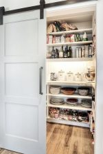 Pantry Design Ideas with Rolling Door