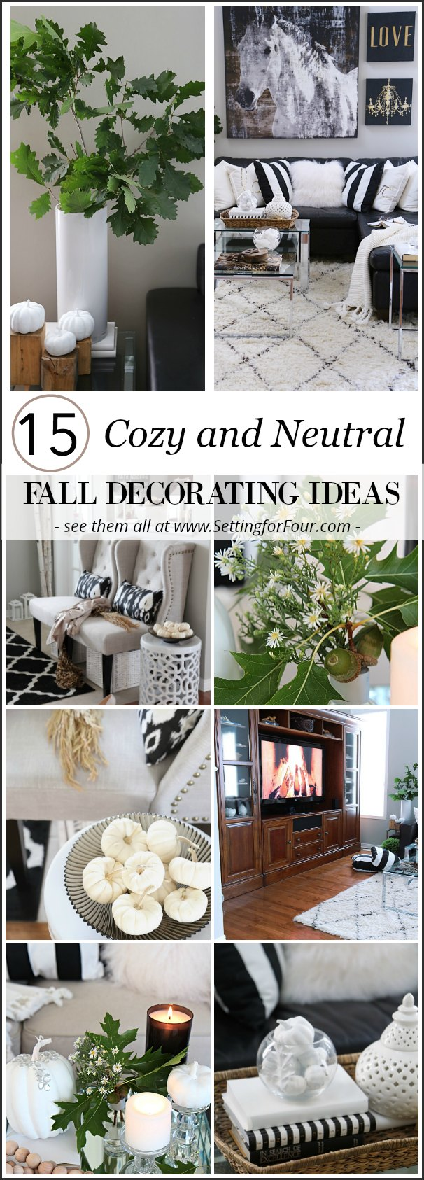 15 Cozy And Neutral Fall Decorating Ideas Setting For Four
