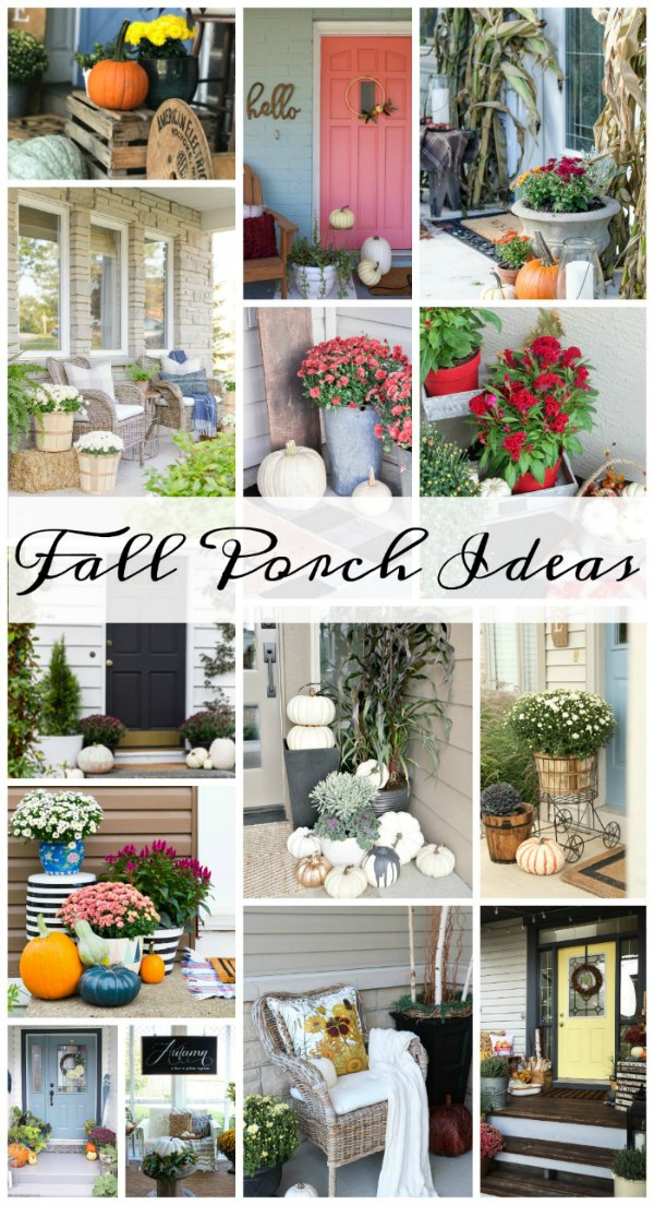 Get loads of Fall Decorating Tips and Ideas for your home here! See these 14 beautiful Fall Porch Decor Ideas - with fall flowers, pumpkins and cozy decor!