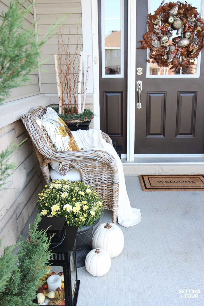Neutral Fall Decor Ideas: See My Tips And Tricks To Create A Rustic Elegant  Front