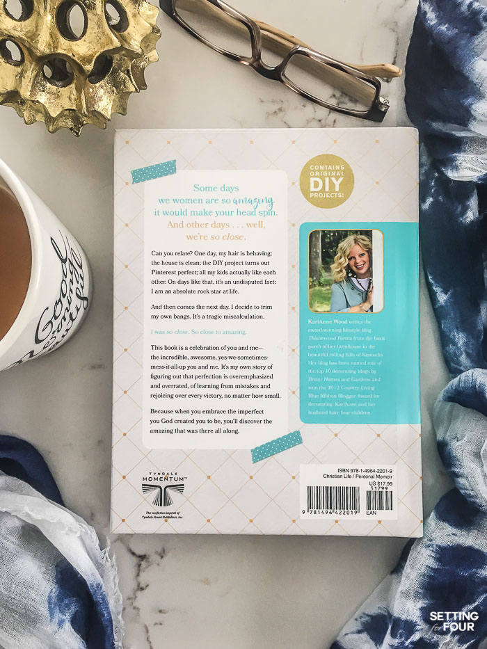 Loving this inspirational book - So Close To Amazing - a memoir written by Karianne Wood of Thistlewood Farms blog! (link to this motivational book included in post) Makes a fabulous gift idea!