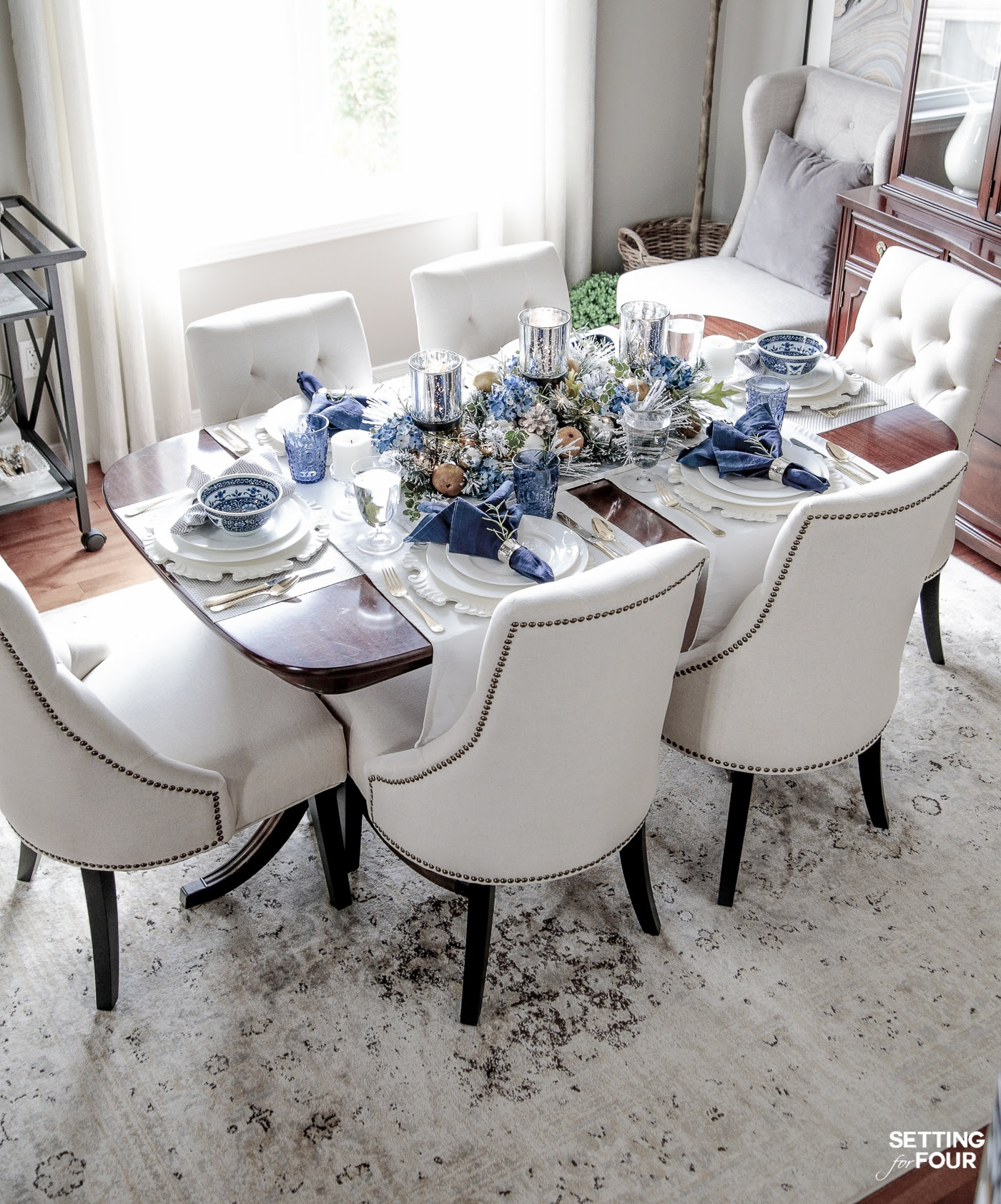 My dining room. See my dining room furniture and decor - product sources for everything!