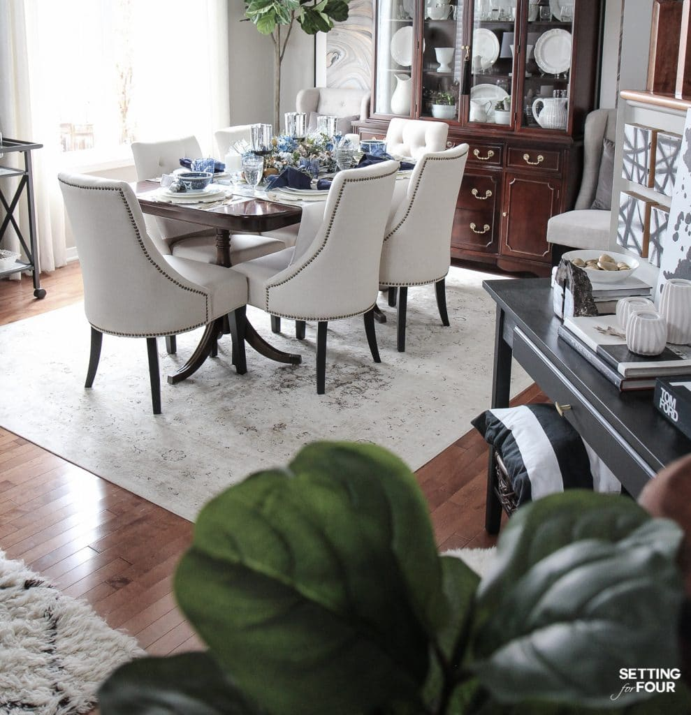 My go-to gray paint color in my dining room! This is my all time favorite gray paint color that's the perfect neutral! See all of the paint colors in my home in this paint colors post.