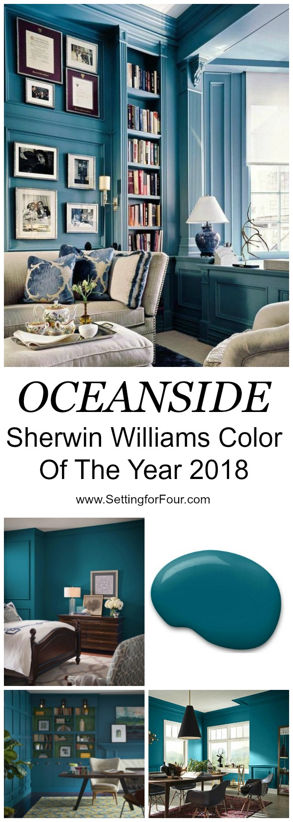 Diy home decor and paint color inspiration sherwin williams oceanside color of the year