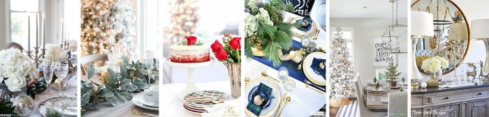 Love this! See how to create these 6 Beautiful Christmas Table Decor Ideas! Easy DIY entertaining idea for the home.
