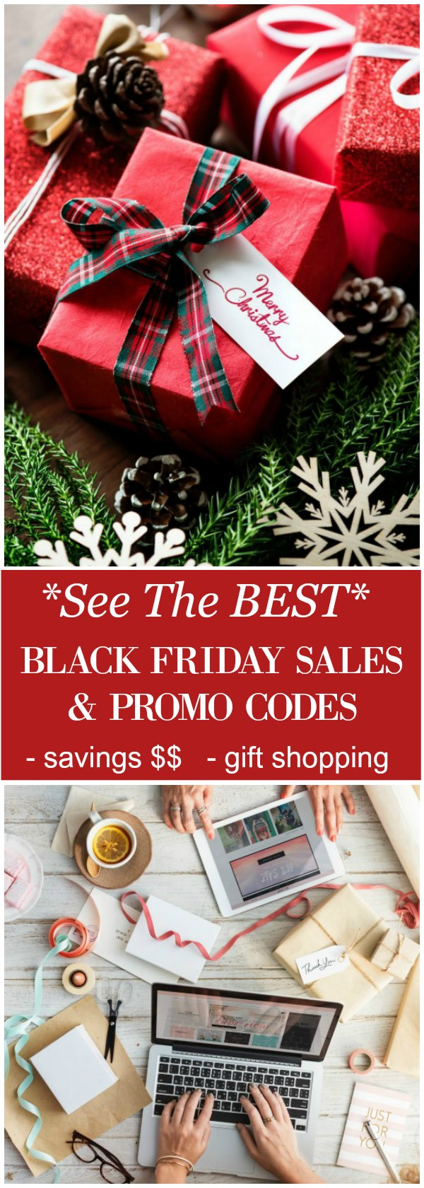 See This List of Best Black Friday Sales & Promo Codes! Shop in your pajamas and avoid the crazy lineups! #blackfriday #shopping #sale #promocodes #savemoney #online #christmasgifts #christmas