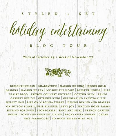 See 28 inspirational Christmas Entertaining Ideas! Including holiday table setting ideas, centerpiece ideas, dining room decor ideas and more!