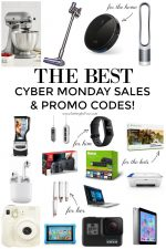 Check out this HUGE LIST of Cyber Monday Deals Sales and PROMO CODES. Finish your Christmas gift shopping! Electronics, tech, games, home decor, fashion for him, her, kids. #cybermonday #electronics #savings #deals #online #shopping #budget