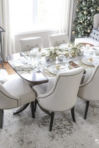 Elegant Gold And White Christmas Tablescape