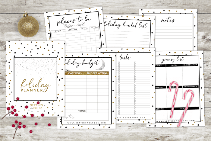 PRINTABLE 27 PAGE HOLIDAY PLANNER to organize Christmas !