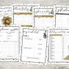 This Holiday Chic planner will organize your entire holiday season! 27 pages of Christmas tracking sheets, menu planners and more! #christmas #holiday #planner #printable #organization #gift