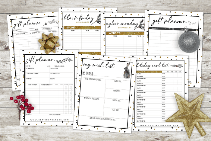 Get your 27 page holiday planner - get organized for the holidays! Menu plans, gift lists and tracking sheets!