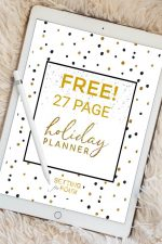 FREE Printable Holiday Planner – 27 Pages to Organize and Plan Christmas!