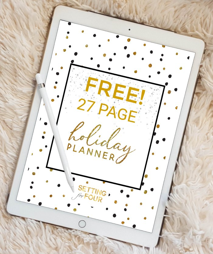 FREE Holiday Planner Pack that includes 27 Free Printable Pages to plan Christmas! #free #holiday #christmas #planner #printable #organization