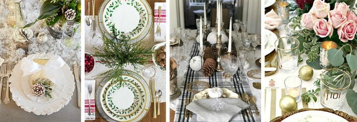 Love this! See how to create these 4 Beautiful Christmas Table Decor Ideas! Easy DIY entertaining idea for the home.