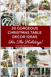 20 Gorgeous Christmas Table Decor Ideas