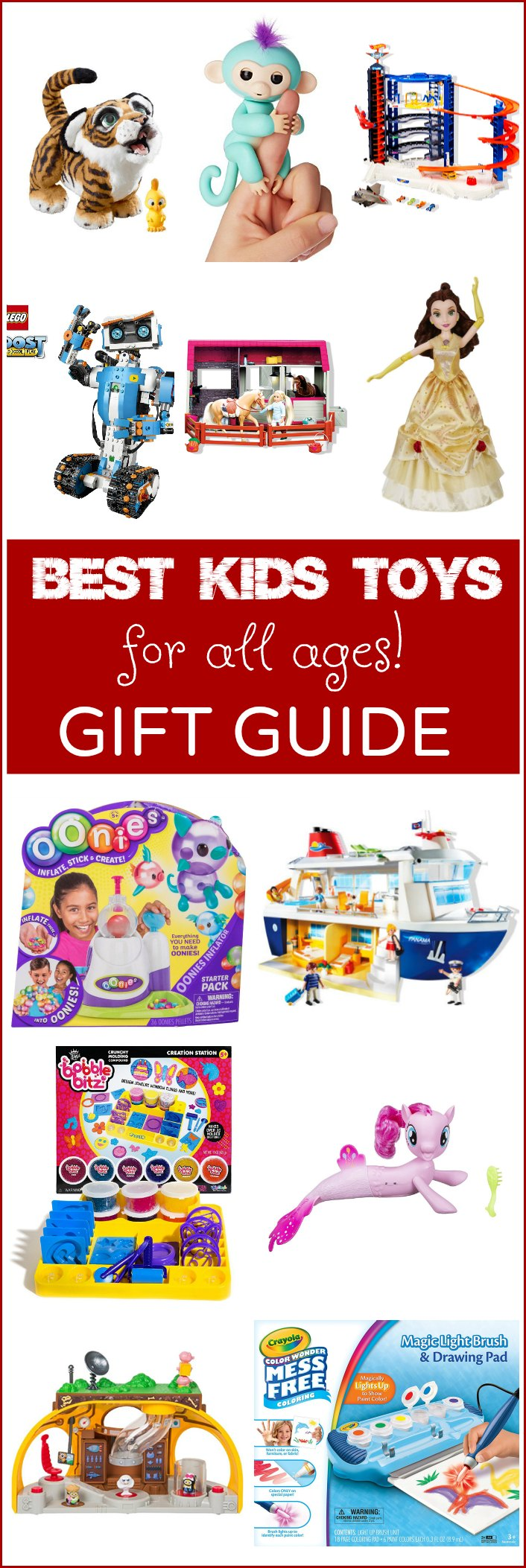 See all the BEST Toys for Kids in this amazing Gift Guide for Kids of all ages! It will make buying your next kids gift so easy with all the fun choices here! See tech gifts, dolls, Lego, Playmobil, Matchbox and other reputable gifts that fun loving kids will adore!