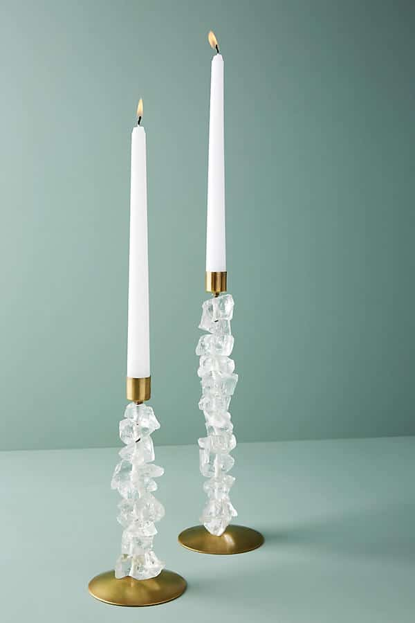 Stunning! Crystal Taper Holder - these are absolutely stunning! What a beautiful gift idea - wedding gift idea too! These will make any tablescape magical.