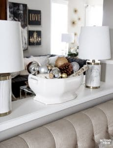 Glam Gold and White Christmas Home Tour & 30 Holiday Homes
