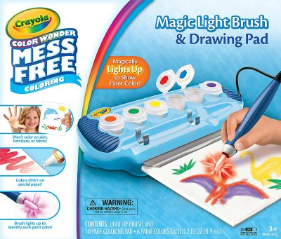 Crayola Color Wonder Magic Light Brush & Drawing Pad, Mess Free Coloring - see it and all the BEST TOYS FOR KIDS GIFT GUIDE with 12 top kids gift ideas!