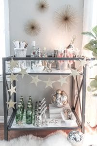 How To Create A Fabulous New Year's Eve Bar Cart