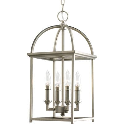 Home Decor Idea: 4 Light Candle Chandelier - gorgeous! Perfect for the foyer, hallway or kitchen island.