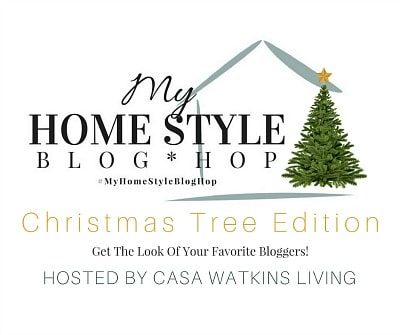 Beautiful holiday home decor ideas: See 25 gorgeous Christmas trees and your favorite bloggers' decorating styles in this inspiring 'My Home Style Blog Tour: Christmas Tree Edition'!
