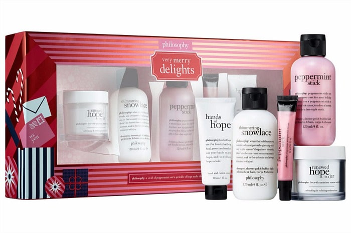 Philosophy Very Merry Delights A limited-edition collection of bath and body, breakthrough skin care, and treats for the lips and hands, wrapped and ready for holiday gifting. #giftidea #gift #holiday #skincare