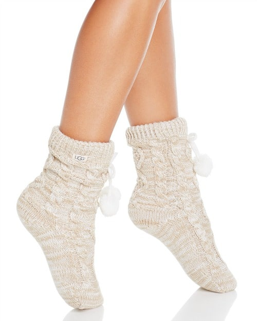 UGG Pom Pom Socks #fashion #socks #women #gift #giftidea #under50