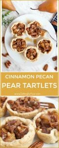 Cinnamon Pecan Pear Tartlets